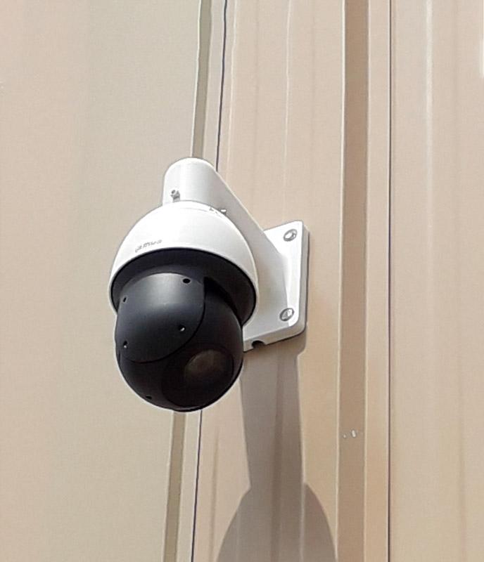 Installation de caméra dôme de vidéosurveillance